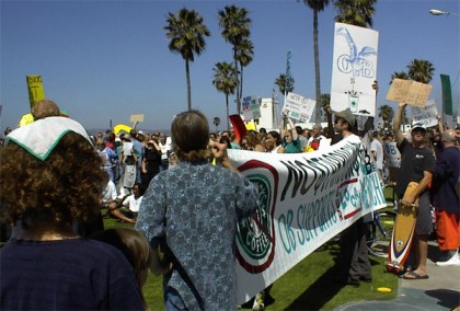 OB starbucks protest banner