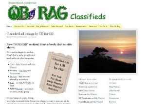 OB Rag Classifieds homepage screensave