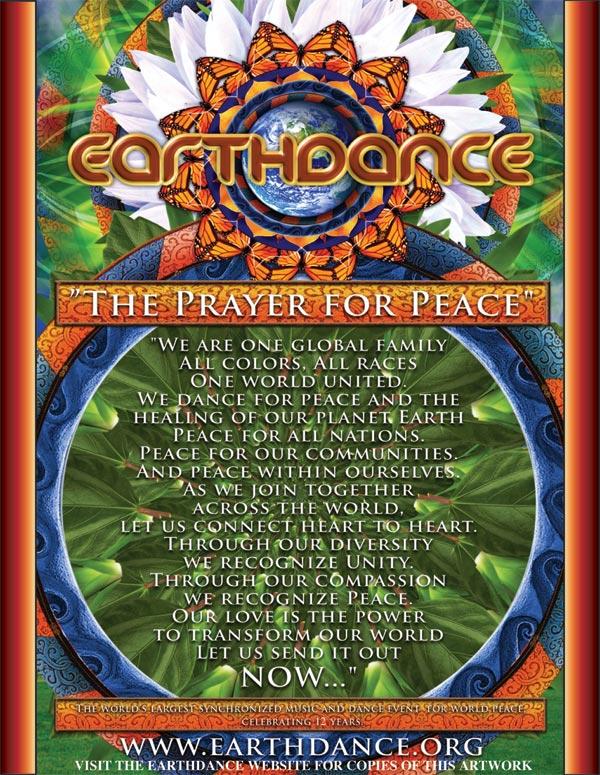 OB Earthdance prayer poster