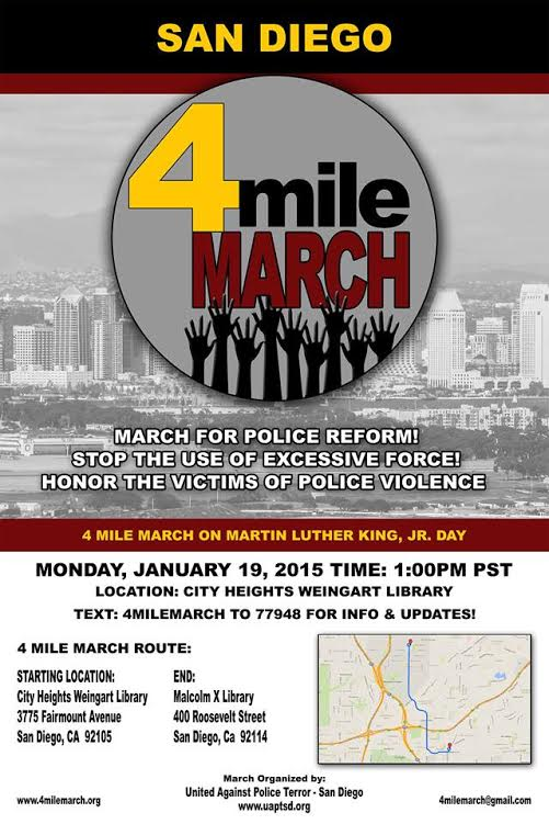 San Diego 4 Mile March poster