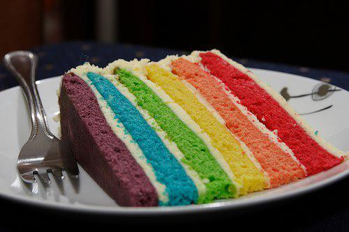 Gay Rainbow cake