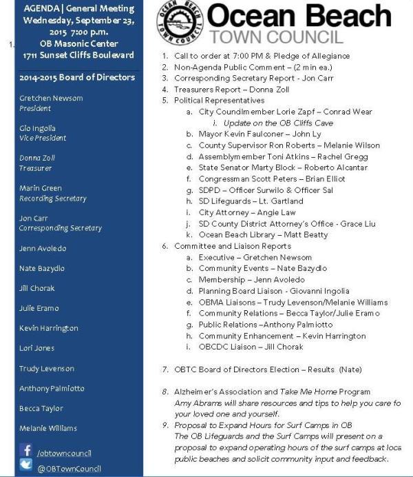 OBTC agenda 9-23-15