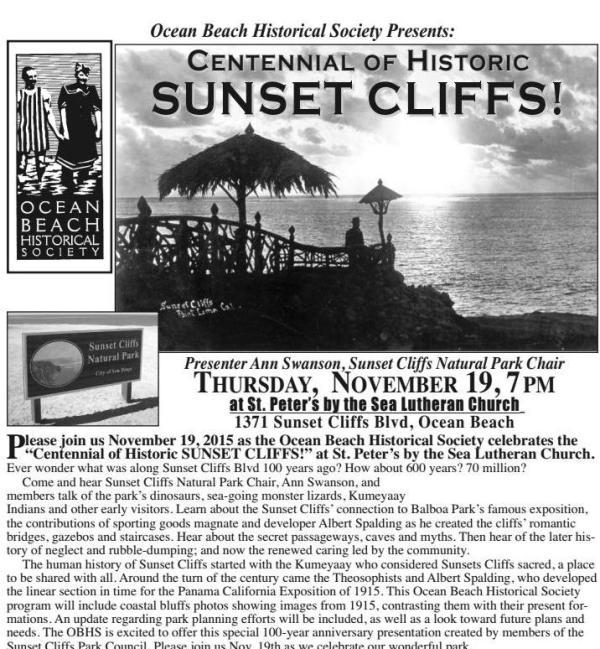 OBHS Sunset Clifs 11-19-15