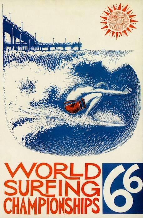 OB World Surf Champ 1966 poster