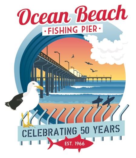 OB Pier 50 yrs poster