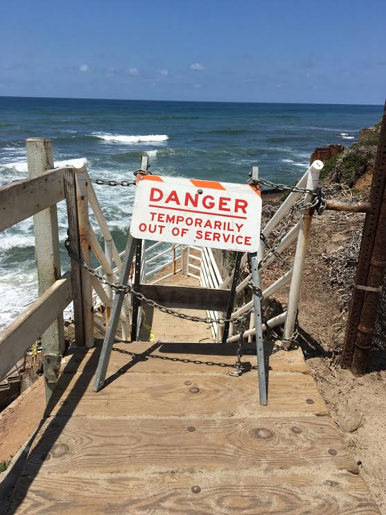 Stairs To Beach At Bermuda Avenue Have Collapsed