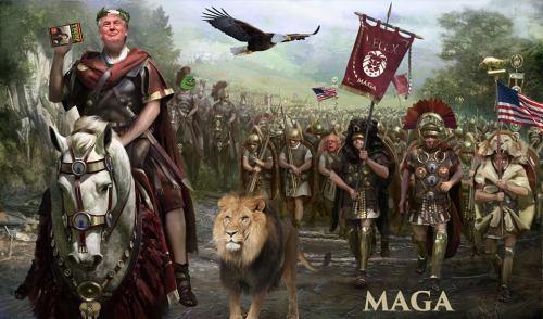 Trump as roman emperor