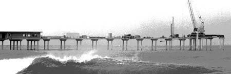 OB Pier under construc