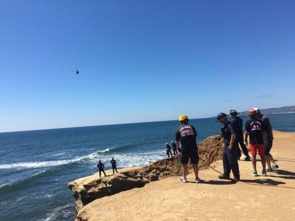 OB cliff rescue 7-6-16