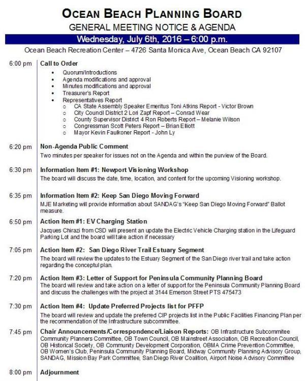 OBPB Agenda 7-6-16