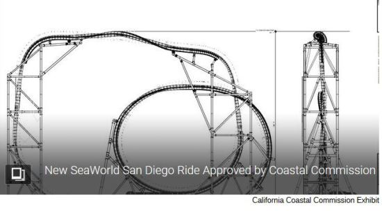 New Coaster Ride at SeaWorld Approved by Coastal Commission