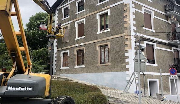 Rehabilitación de fachadas en Irún