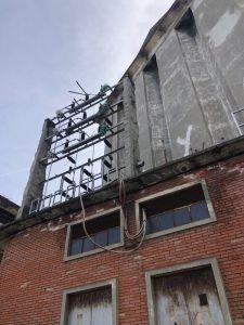 Corrosion de la armadura metálica