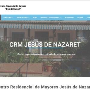 La residencia de mayores 'Jesús de Nazaret' estrena página web
