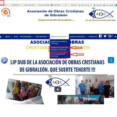 La Asociación de Obras Cristianas estrena dos nuevas web: Centro Ocupacional y Residencia de Gravemente Afectados