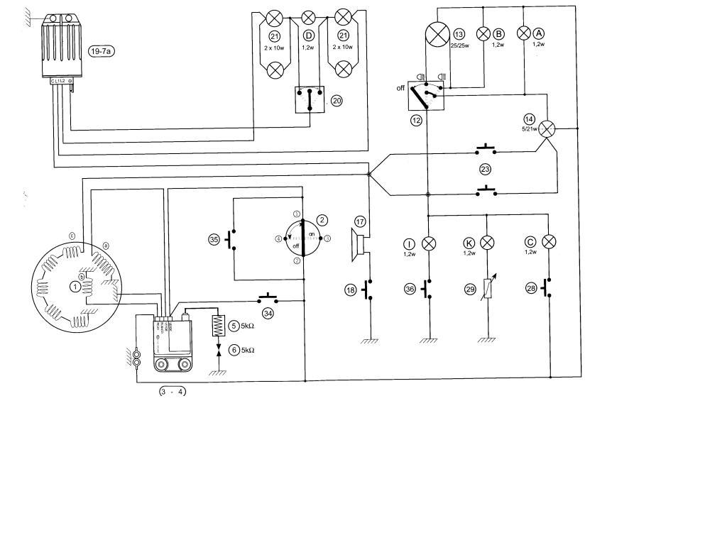 Peugeot Vivacity 50 Wiring Diagram