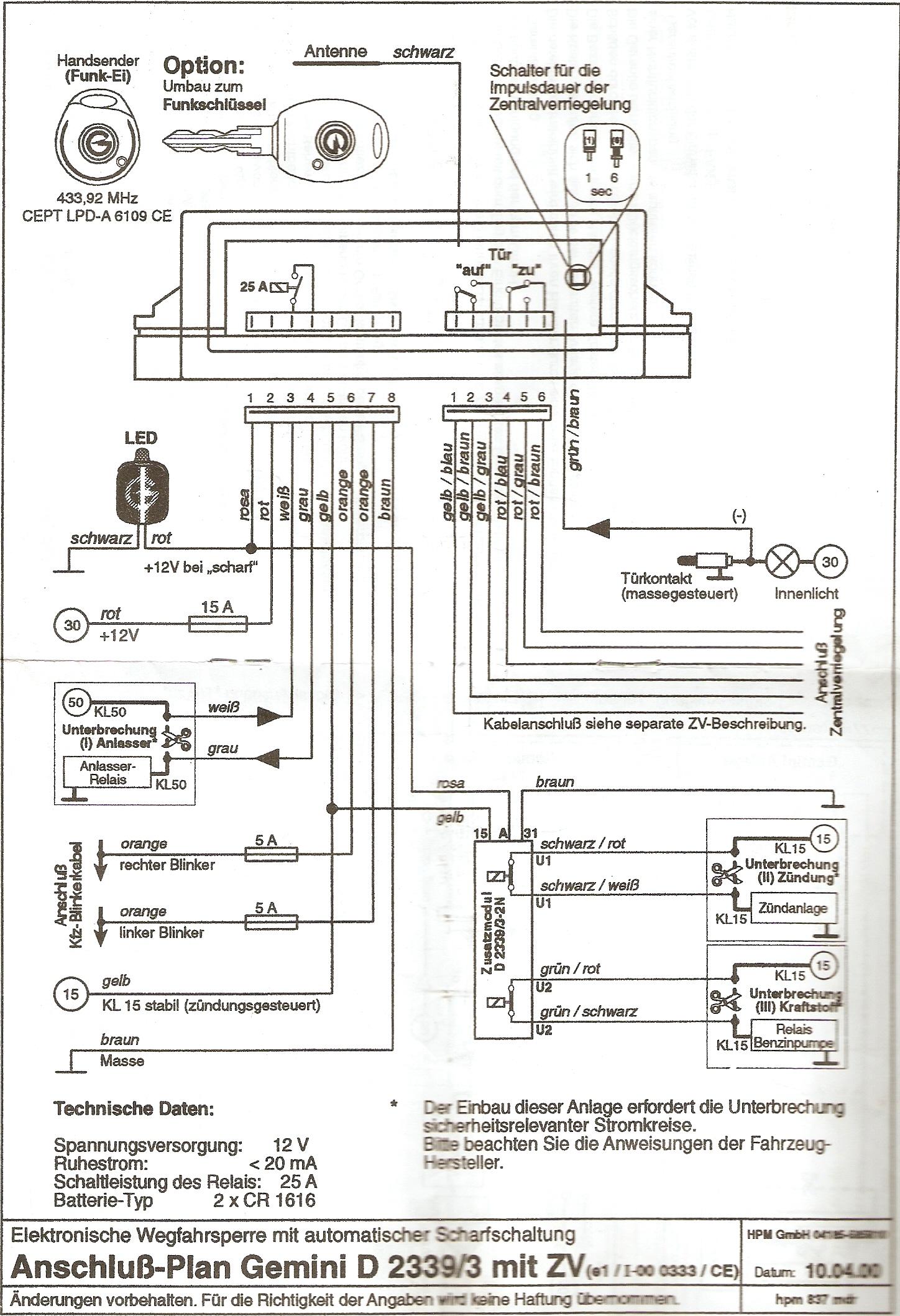 Alarm Siren Wire Diagram