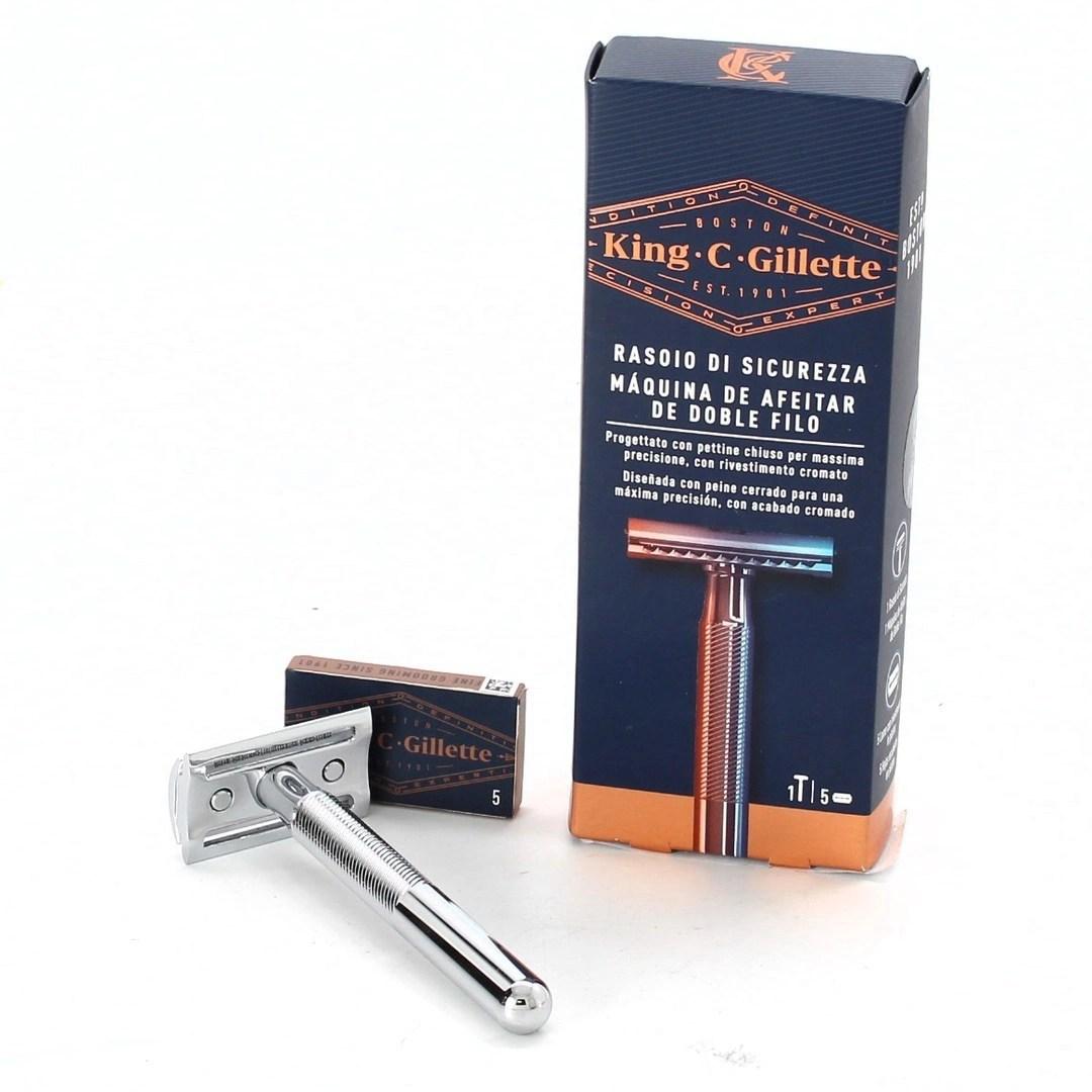 Shave sets (6) double edge razor shaping kit. Ruční holící strojek King C Gillette - bazar | OdKarla.cz