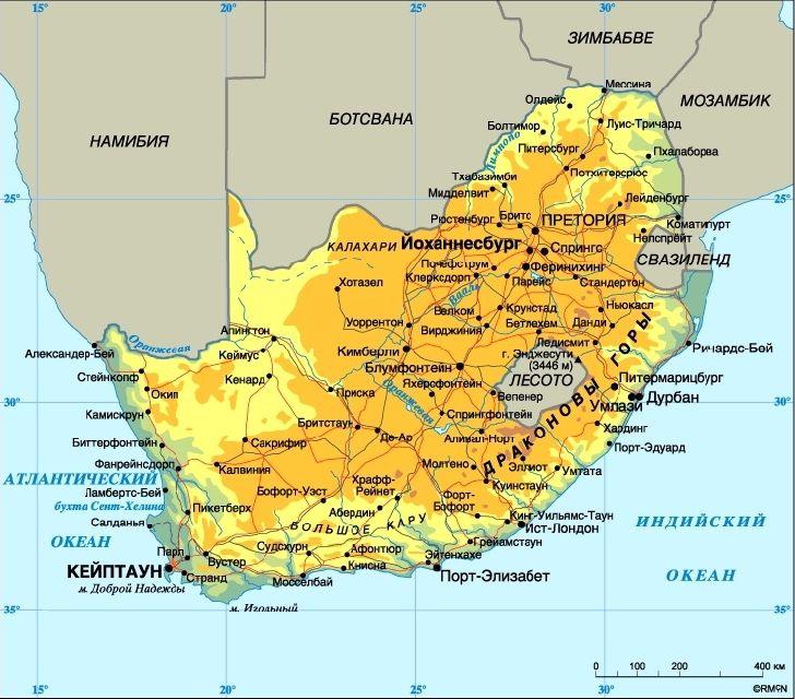 Etela Afrikan Maat Luettelo Paakaupungit Mielenkiintoisia