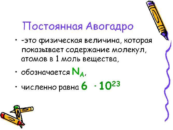 Формула числа Авогадро
