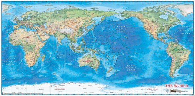 Ukaz Na Mape Oceanov Nazov Mori Mapa Mori Stredozemneho Mora