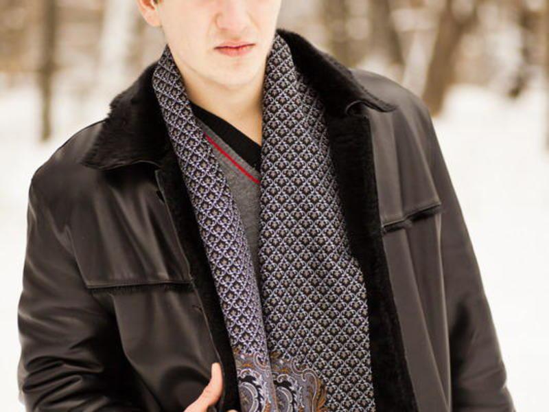 как носить кашне мужчине фото рынке латвии
