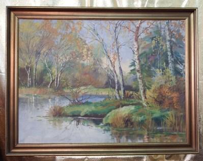 Jesień – Pejzaż – Niezwykły, cenny, duży obraz