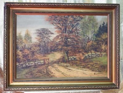 Jesień – Carl Lundqvist (1883 – 1949) – Stary piękny obraz