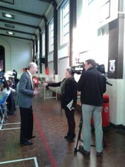 Author Brian Gallagher speaking to RTE's News2Day