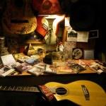 """""""CDs/DVDs_Guitars_Lamp Light"""""""