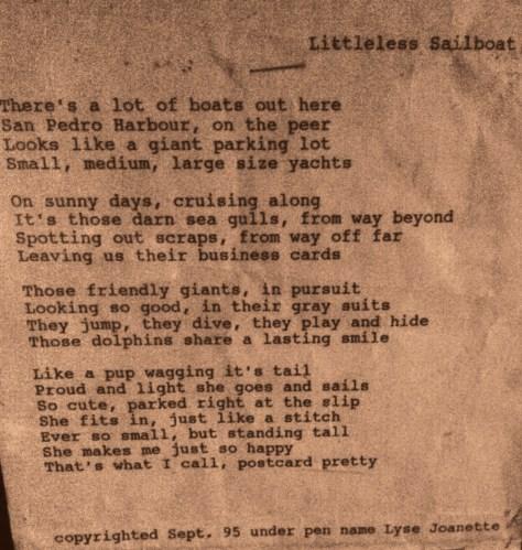 Littleless SailBoat _Sept 1995