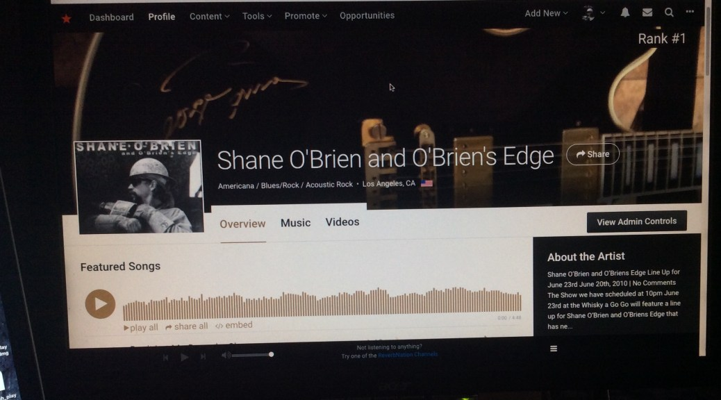 Shane O'Brien ReverbNation No.1