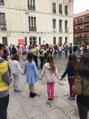 Trobada Escola Joan Pelegrí i Escola Miquel Bleach - Sants