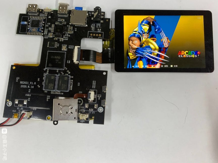 PowKiddy RGB20 Motherboard and LCD