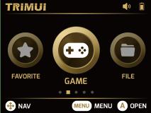 menu system for trimui model s