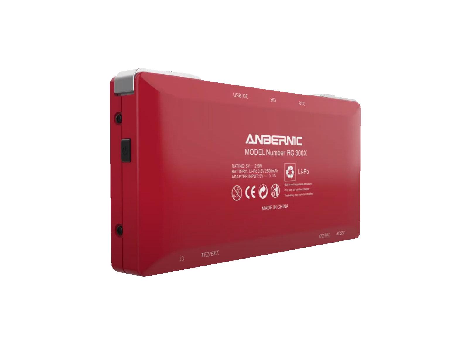 Back of Anbernic RG300X