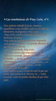 Las enseñanzas de Fray León nº1
