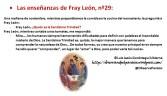 Las enseñanzas de Fray León nº29