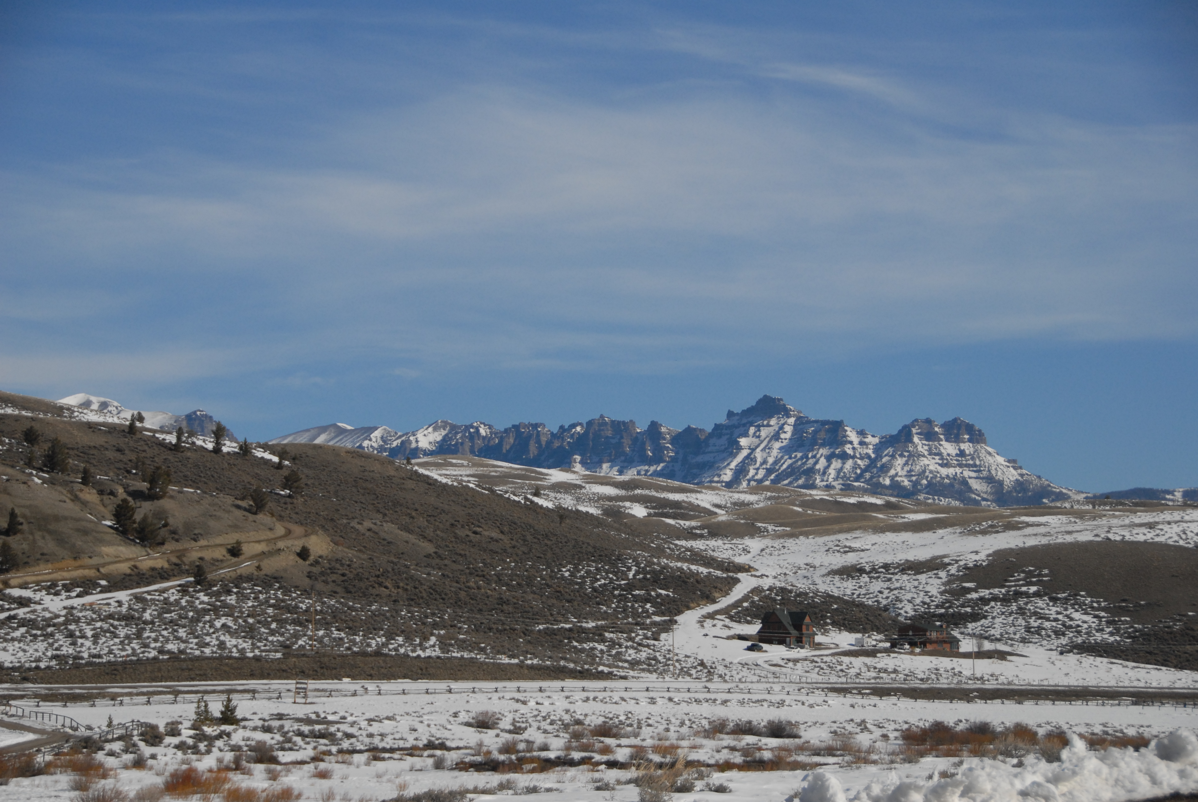Wind River Valley Wyoming In Early March