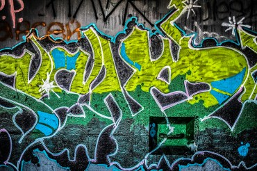 Color photography: Graffiti in a Bunker
