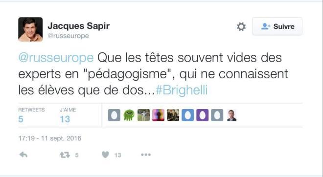 tweet de Sapir