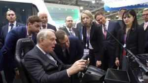 Jean-Marc Ayrault During The Innovations Expo 2013 Exhibition - Moscow