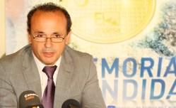Carlos Rodríguez, delegado de Endesa en La Palma, durante la rueda de prensa de La Memoria Encendida en La Palma.
