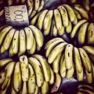 Plátanos en el mercado de San Lorenzo.