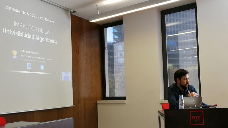 Leyberson Pedrosa, docente de la U. Estadual Paulista, Brasil, e investigador visitante del Depto. de Comunicación de la UPF.