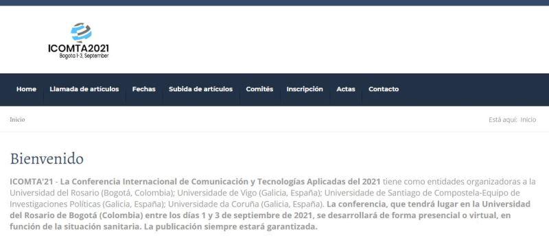 ICOMTA'21 - Conferencia Internacional de Comunicación y Tecnologías Aplicadas 2021