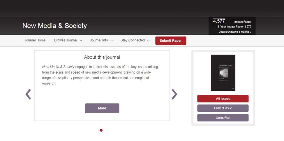 New Media & Society