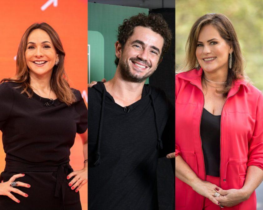 Maria Beltrão, Felipe Andreoli and Renata Ceribelli