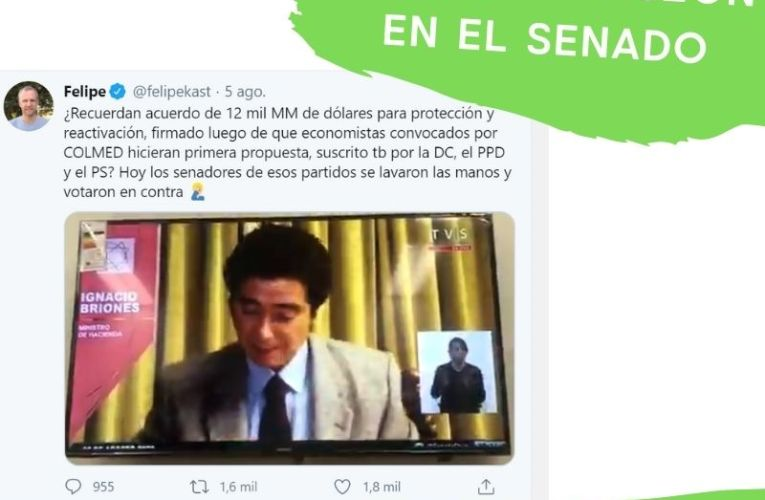 El tweet del diputado Felipe Kast