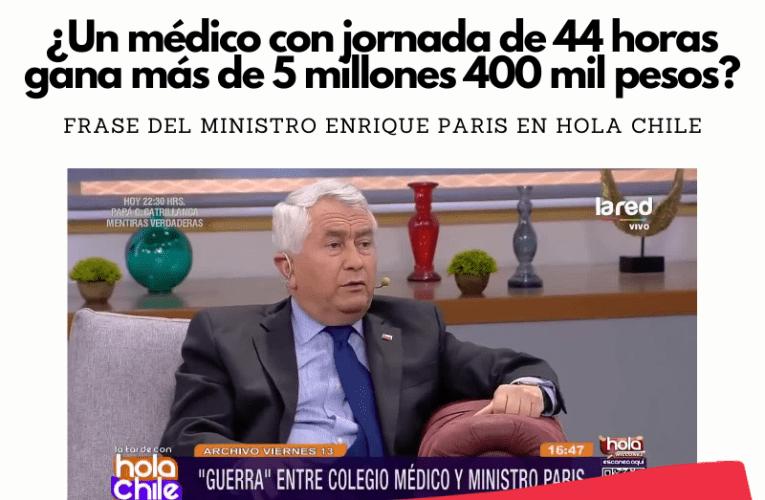 Un médico con jornada de 44 horas ¿gana más de 5 millones 400 mil pesos?
